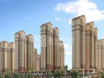 御景城二期2栋高楼层218平四房两厅双阳台毛坯房,开价190万,二手交易可按揭