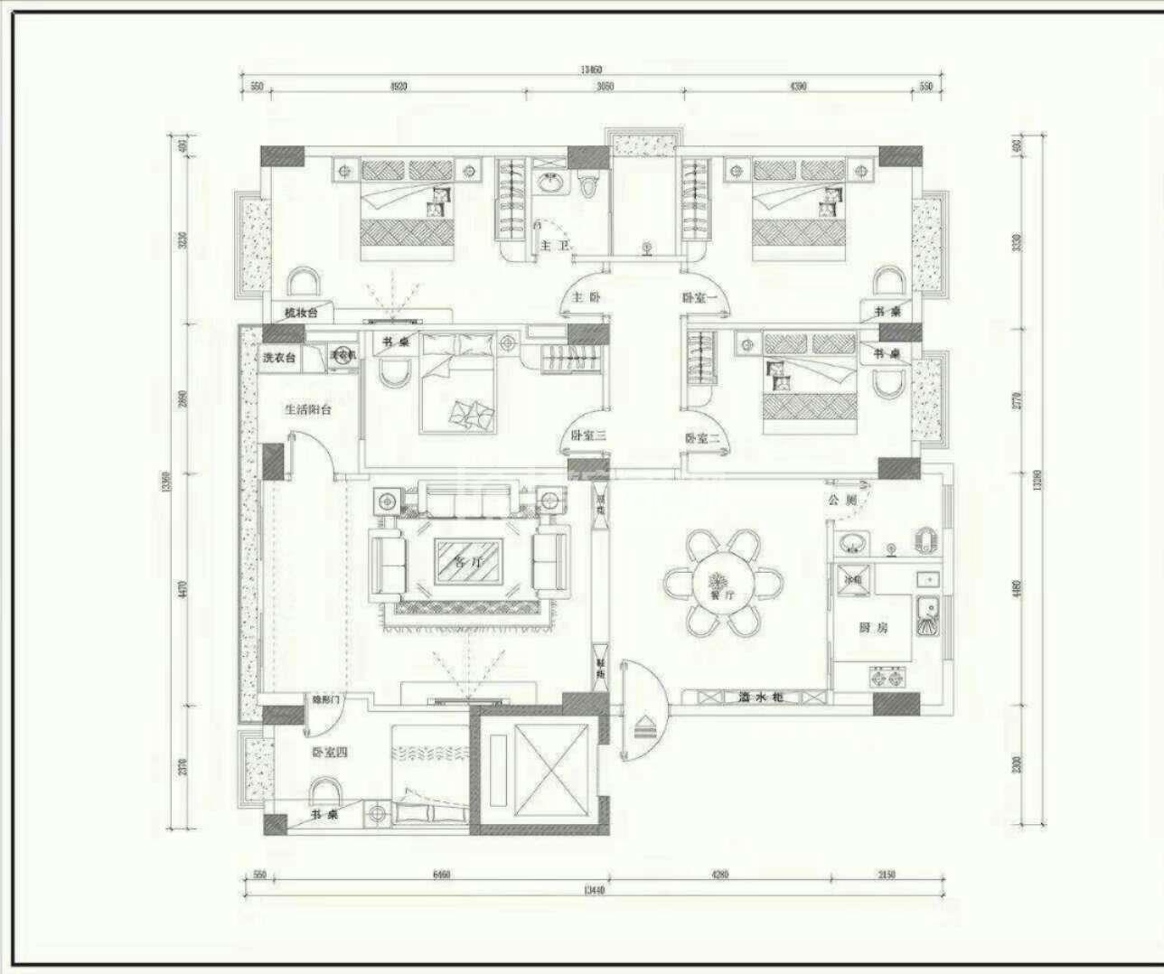 泗竹仔电梯现楼2楼 185平 5房2厅 免配套费 平仅2350元