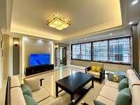 泗竹浦公园附近,电梯14楼大四房,新中式风格带家具家电,全屋定制,双阳台三面采光